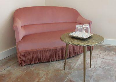 Salon Flamant rose chambre L'écrin de l'Orb Maison d'hôtes Cessenon sur Orb, Saint chinian Hérault 34