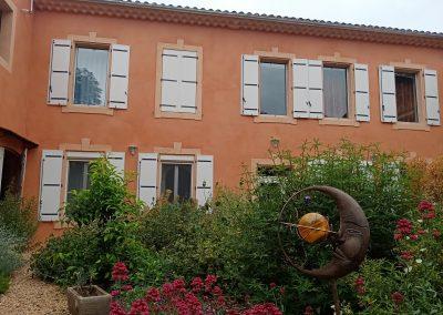 L'écrin de l'Orb côté jardin méditerranéen